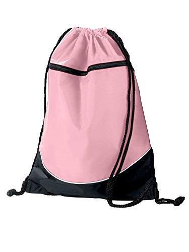 Tri-Color Drawstring Dance Bag AUG1920B110 Red/Black/White One-Size (Bag Tri Color Sport)