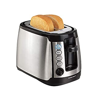 Hamilton Beach Keep Warm 2 Slice Toaster, Silver with Black (22811)
