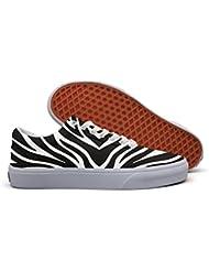 HTEAQWEF Zebra Stripe Print Print Sneaker Flat Canvas Shoes For Womens Stylish