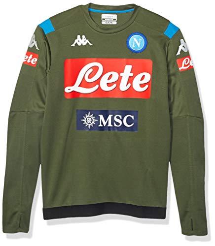 Ssc Napoli Italian Serie A Men's Crewneck Training Sweater, Green, L