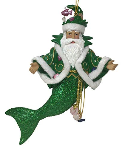 (December Diamonds Limited Edition Green King Neptune Merman Ornament 5555049 New)