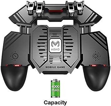 Yiwa AK77 Mobile T/él/éphone Gamepad Poign/ée /Émetteur pour PUBG Contr/ôleur De Jeu Mobile D/éclencheur Joystick Gamepad Version Batterie 4000mAh