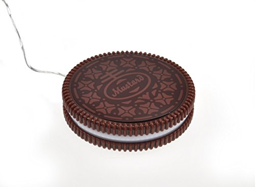 [해외]겨자 USB 컵 머그컵 따뜻한 코스터 - 짙은 브라운 핫 쿠키 (NG1702)/Mustard USB Cup Mug Warmer Coaster - Dark Brown Hot Cookie (NG1702)
