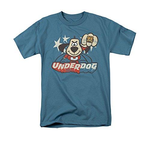 Underdog 1960's Animated TV Series Vinatage Style Flying Logo Adult T-Shirt