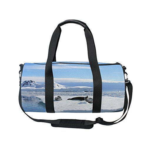 Crabeater Seal - Cooper girl Crabeater Seals On Ice Floe Duffels Bag Travel Sport Gym Bag