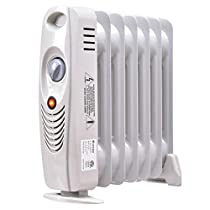 700W Portable Mini Electric Oil Filled Radiator Heater Safe Room ComforTemp