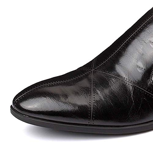 Cómodo Transpirable Xycszq Black Negocios Hombres De Caucho Brock Perezosos Zapatos Cuero RTYgR