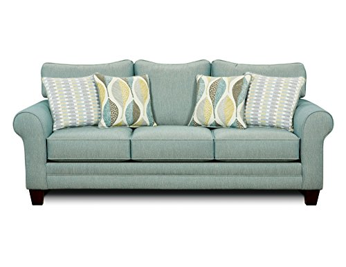 Furniture Of America Gardena Sofa Soft Teal Best Sofas Online Usa
