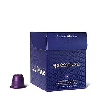 SpressoLuxe Nespresso Compatible Gourmet Coffee Capsules, Colombia Espresso Leggero Decaf, 60 Count