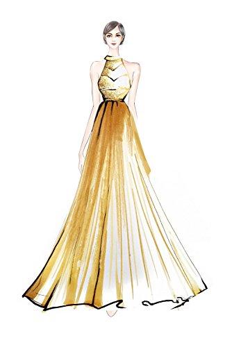 A Herrlich Abiballkleider Partykleider Abendkleider Chiffon Orange Neu linie Bride Steine Milano 2018 Rock Lang U8nwqFUBz