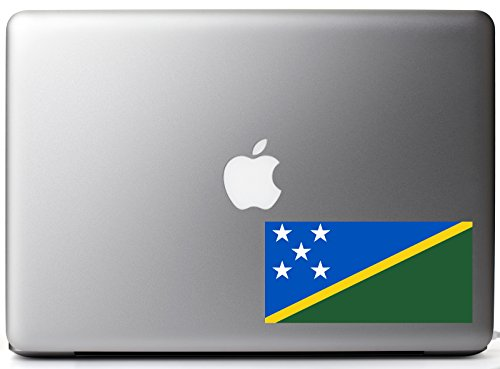 - Solomon Islands Country Pride Flag Full Color - Vinyl Decal for 13