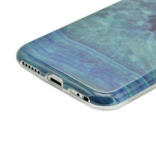 Funda para iPhone 5 / iPhone SE / iPhone 5S Sunroyal Premium Mármol Suave TPU Carcasa Parachoques Bumper Tapa Flexible Silicona Portátil Protectora Absorción de Golpes Case Ultra Delgado Caja del Telé A-21