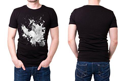 Dart_I schwarzes modernes Herren T-Shirt mit stylischen Aufdruck