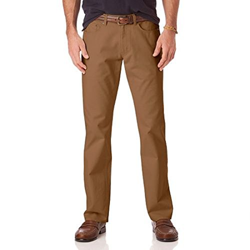 IZOD Men's Comforat Stretch Straight-Fit 5-Pocket Pants