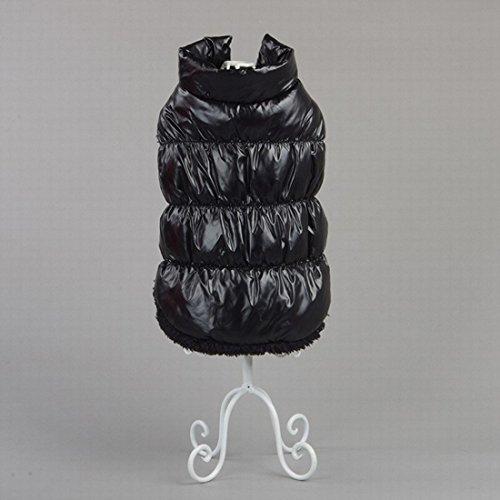 Kismaple Perro de mascota / gato Chaqueta de abrigo Impermeable Winter Warm Jackets Abrigos Chaleco pequeño para perros Negro S Cofre: 35-37CM: Amazon.es: ...
