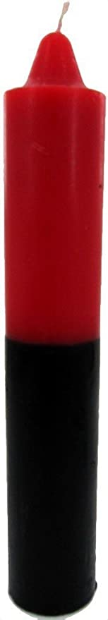 Reversible Red Black Jumbo Candle ~ 9 x 1.5 ~ Red and Black Double Action