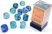 DND Dice Set-Chessex D&D Dice-16mm Nebula Oceanic with Gold Luminary Plastic Polyhedral Dice Set-Dungeons