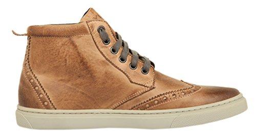 Ylati Hommes Sneakers VENERE HIGH Brush Leather Fango 1022