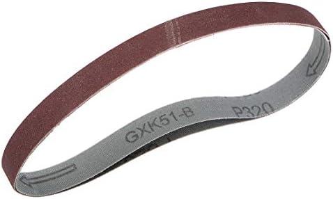 uxcell サンディングベルト15 mm x 452 mm320グリット アルミニウム酸化物 2個