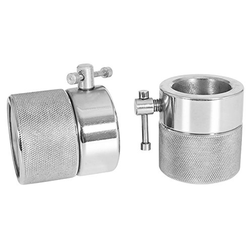GORILLA SPORTS Olympic barbell spinlock collars chromed – Screw clamps Pair with 2 inch diameter by GORILLA SPORTS