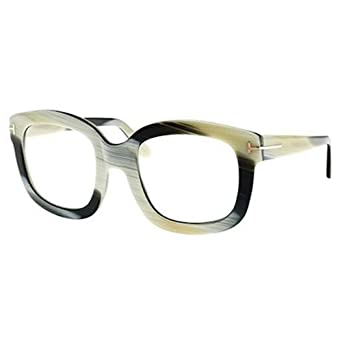bd6c279b96ad1 Tom Ford Eyeglasses FT5315 062 Shiny Green Horn at Amazon Men s Clothing  store