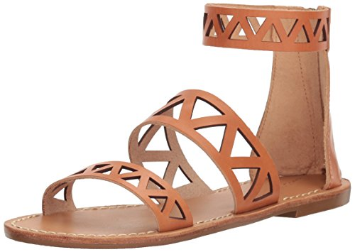 Soludos Women's Geo Laser Cut Band Sandal Flat, Sunburst, 5 B ()