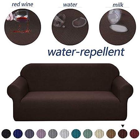 Amazon De Amztp Wasserdichte Spandex Sofauberwurf Sofabezug 1 2 3 4 Sitzer Fur Wohnzimmer