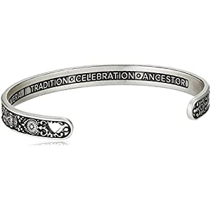 Alex and Ani Calavera Cuff Bangle Bracelet, Rafaelian Silver, Expandable