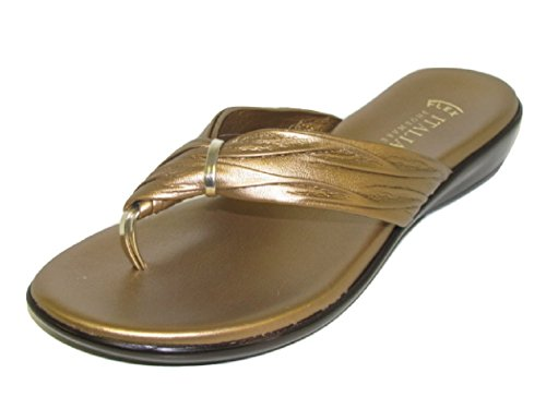 ITALIAN Shoemakers Women's Leela Sandal Bronze 9.5 Medium US ()