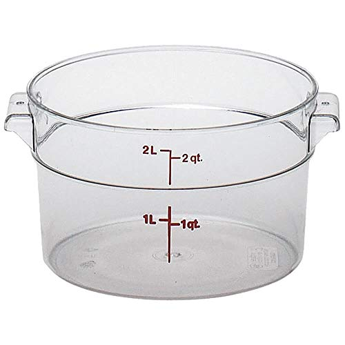 - Cambro RFSCW2135 Camwear Round Storage Container 2 qt. clear - Case of 12