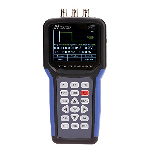 Generator Signal Oscilloscope (KKmoon Handheld Multi-functional Digital Oscilloscope + Signal Generator Portable Scope Meter 20MHz Bandwidth 200MSa/s 1CH TFT LCD Display)