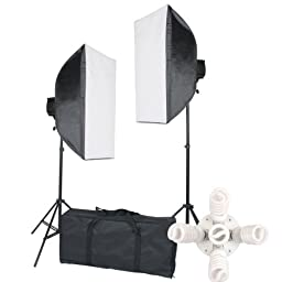 StudioFX 2400 Watt Large Photography Softbox Continuous Photo Lighting Kit 28\