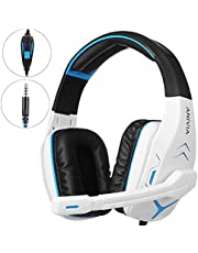 Gaming Headset for PC PS4 Xbox One Tablet Mac Smart Phone Gaming Headphone with Noise Canceling Mic,Bass Surround,Soft Memory Earmuffs