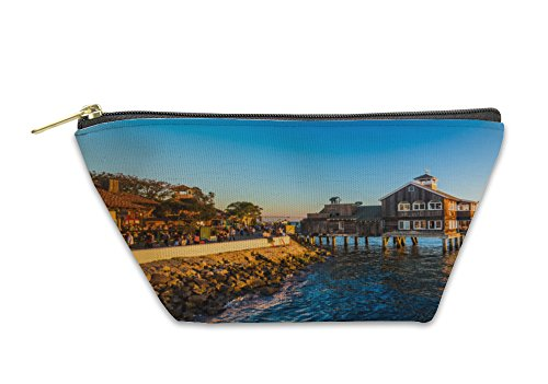 Gear New Accessory Zipper Pouch, Evening Light At Seaport Village In San Diego California, Large, - At Diego Shops San Seaport Village