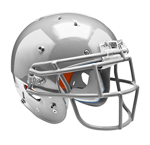 silver football helmet - 1