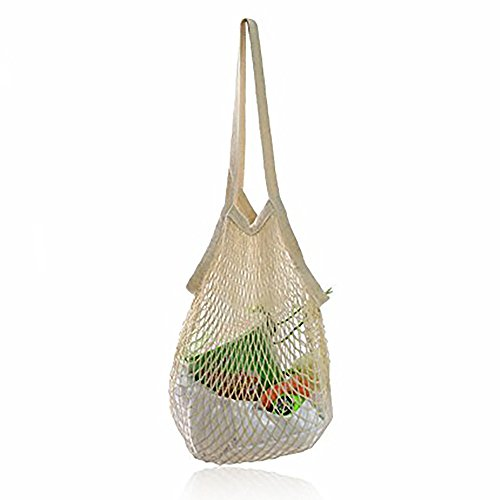- Uharbour Reusable Cotton Mesh Net Ecology Shopping Bag, Great Christmas Gift Woven Grocery Carrying Tote for Fruits,Vegetables,Toys Etc