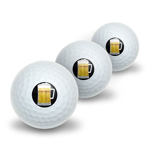 Graphics and More Beer Frosty Mug Novelty Golf Balls 3 Pack