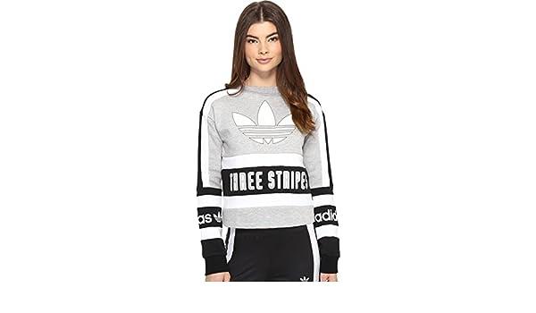 adidas Originals Womens X Rita Ora Sweatshirt Dress Medium Grey HeatherBlack