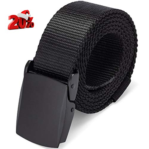 Dragon Ninja Nylon Tactical Belt Canvas Military Style Webbing for EDC Outdoors Mens and Womens 1.5in (Large)