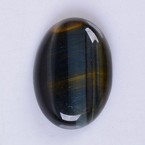 30x22mm Oval Cabochon CAB Flatback Semi-precious Gemstone Ring Face (Blue tiger eye)