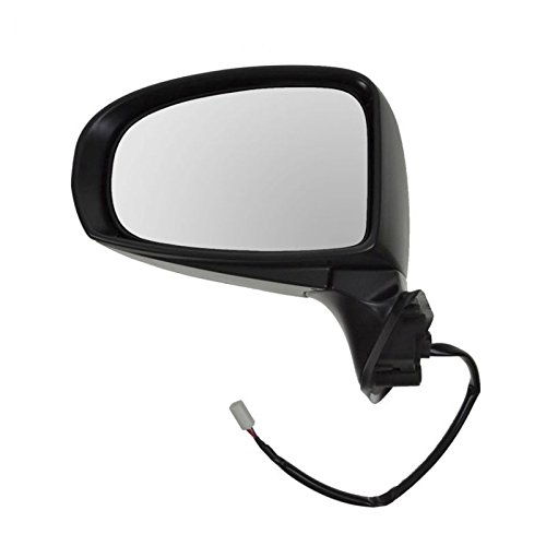 Power Mirror Black Paint to Match Left Hand Driver Side LH for Toyota (Power Left Hand Side Mirror)