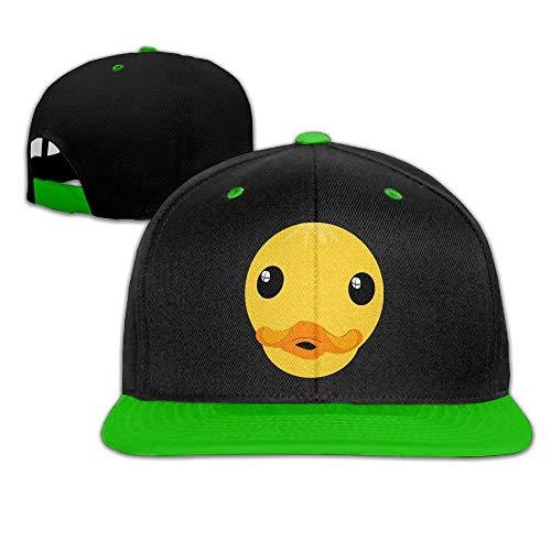 Funny Clipart Duck Face Comfortable Adjustable Baseball Cap Snapback Flat Bottom Cap for Men/Women
