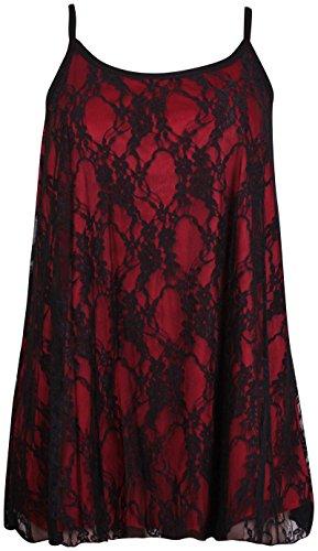 Purple Hanger - Camiseta sin mangas - para mujer Schwarz & Rot
