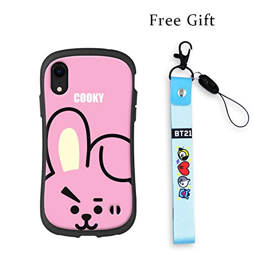 BTS Cell Phone Cases Kpop Full Cover Protected Slim for iPhone, Raised Corners, Gifts for Army Daughter (Jungkook, for iPhone XR)