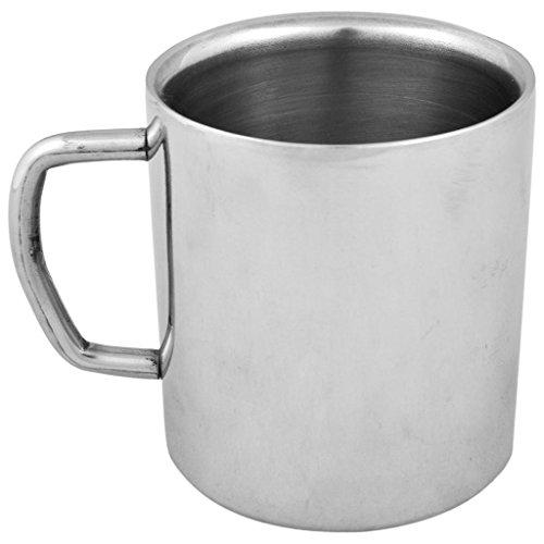 Tiger54 LLC Double-walled Stainless Steel Coffee/Tea Mug, Capacity: 10.14 Oz (300ml) - Pack of 4
