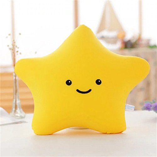 (ChezMax Sea Star Shape Doll Pillow Office Rest Foam Particles Toy Cushion Kids Yellow XS)