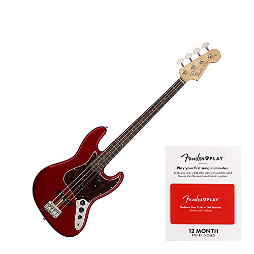 Fender American Original '60s Jazz Bass Electric Bass Guitar Candy Apple Red