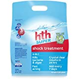 hth 52016 Super Swimming Pool Shock, Pack of 12