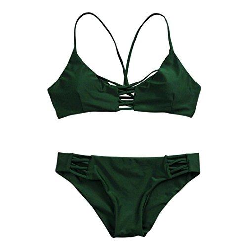 Conjunto de bikini Vovotrade Push-up traje de baño acolchado Bra