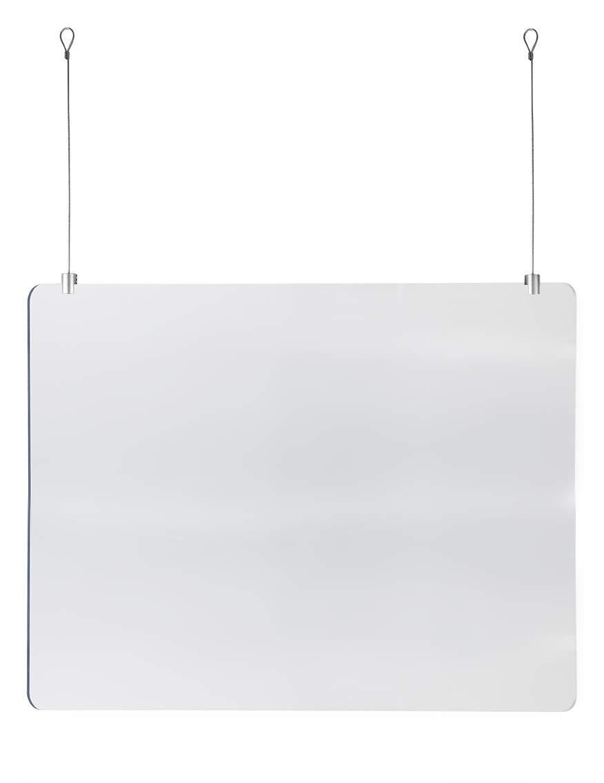 Mampara Protectora de Metacrilato Colgante (60x100cm) con Juego de ...